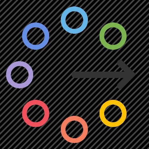agile, flow, harmonious, scrum, solution, strategy, team icon