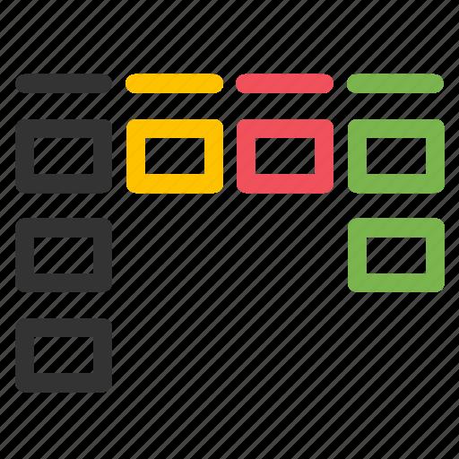 agile, flow, kanban, management, organize, project plan, workflow icon