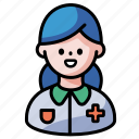 caretaker, nurse, nursing, caregiver healthcare, professional, hospital icon