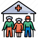 nursing home, hospital, elderly, caregiver, healthcare, geriatric, baby boom icon