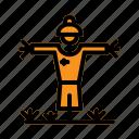 agriculture, farm, farming, scarecrow icon