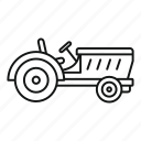 agronomics, auto, clipped, country, crop, occupation, tractor icon