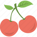 agriculture, berries, cherry, fruit, healthy eating icon