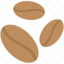 caffeine, coffee beans, food, grains, seed icon