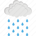 rain, rain cloud, raindrops, rainy weather, weather icon