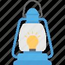 camping light, gas lamp, hiking light, oil lantern, tourist lantern icon