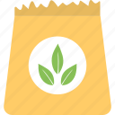 agriculture, grains sack, planting, seed storage, seeds pack icon