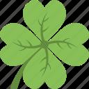 agriculture, clover leaf, green flower, luck symbol, shamrock icon