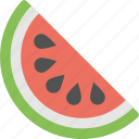 fruit slice, half of fruit, half of watermelon, watermelon, watermelon slice icon