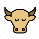cow, earth, farm, garden icon
