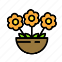 earth, farm, flower, garden, pot icon