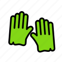 earth, farm, garden, gardening, gloves icon