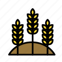 earth, farm, field, garden, grain icon