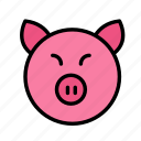 earth, farm, garden, pig icon