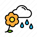 crops, earth, farm, garden, rain icon