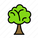 earth, farm, garden, tree icon