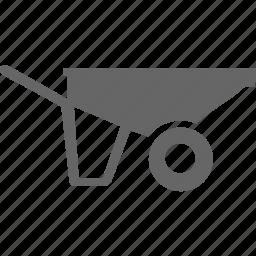 cart, transport, transportation, wheel, wheelbarrow icon
