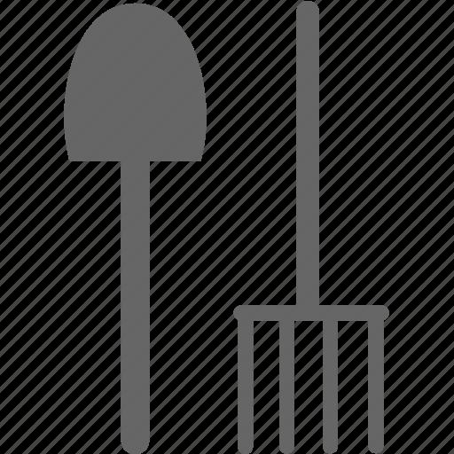 fork, setting, shovel, tool icon
