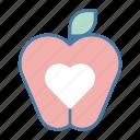 apple, diet, fruit, healthy food, organic, vegan, vegetarian food icon