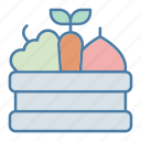 farm, farming, food, harvest, healthy food, ingredient, vegetable icon
