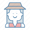 avatar, farmer, people, profile, social, user, woman icon