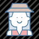 avatar, farmer, people, profile, social, user, woman