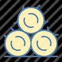 bale, farm, farming and gardening, hay, hay bale, stalk, straw icon