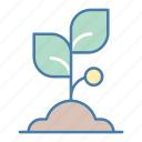 ecology and environment, farming and gardening, gardening, growing seed, nature, sprout, tree icon