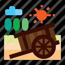 agriculture, buckboard, farm, cart
