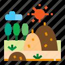 agriculture, straw, farm, haystack icon