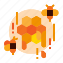 honey, bee, farm, honeycomb