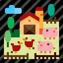 agriculture, livestock, farm, animal icon