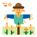 agriculture, scarecrow, straw, farm