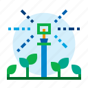 agriculture, sprinkler, plant, farm icon