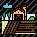 barn, agriculture, farm, field