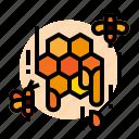 bee, honeycomb, honey, farm