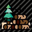 wood, farm, log, tree
