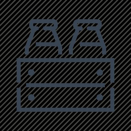 Milk, bottle, crate icon - Download on Iconfinder