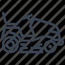 riding, mower, lawn, garden, gardening icon