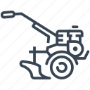 rototiller, cultivator, tool, agriculture, gardening icon