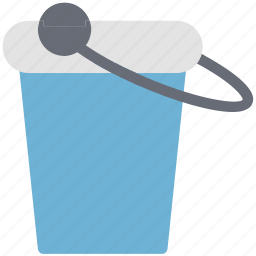 bucket, container, gardening, pail, water, water pot icon