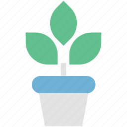 gardening, growing plant, natural, plant, pot, sapling icon
