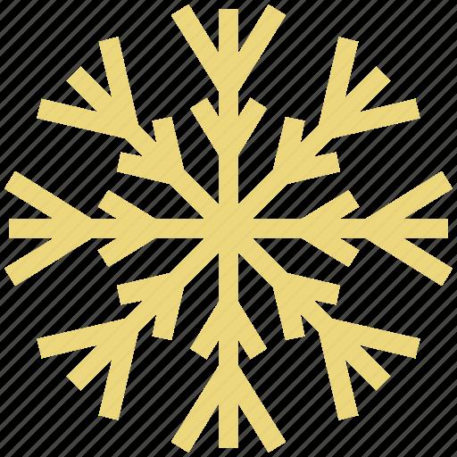 christmas decoration, christmas ornament, crystal flake, ice flake, snowflake icon