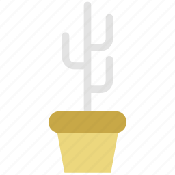 botany, cactus, desert plant, flowerpot, houseplant, potted cactus icon