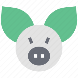 animal, cartoon, cattle face, cow, pig face icon