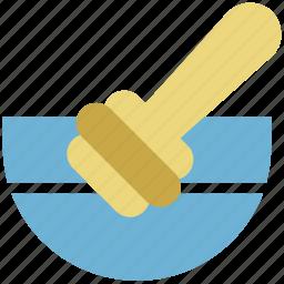 bowl, honey, honey dipper, honey stick, pot icon