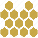 beehive, beeswax, hexagon, hive, honey, honeycomb icon