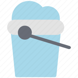 bucket, container, ice bucket, pail, pot, water icon