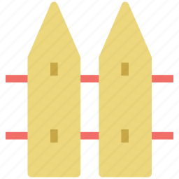 fence, garden fence, palisade, picket, plank fence icon