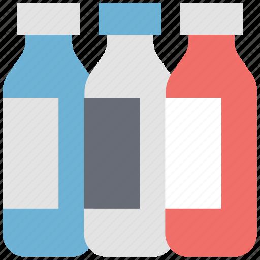 bottles, jar, liquid bottles, medicine jar, milk bottles icon